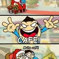 café = mais tempo jogando/jogar = vida/café = vida