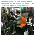 Who would leave a perfectly good bottle of wine in the train