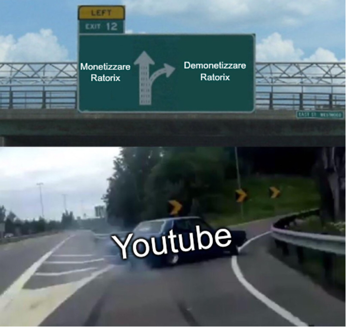 Ratorix e YouTube - meme