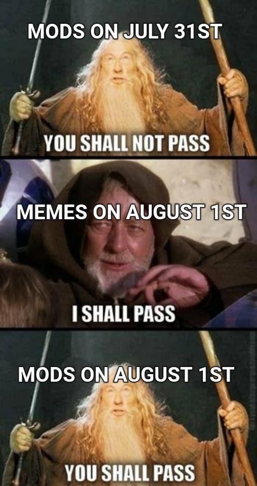 Yass. August 1st - meme
