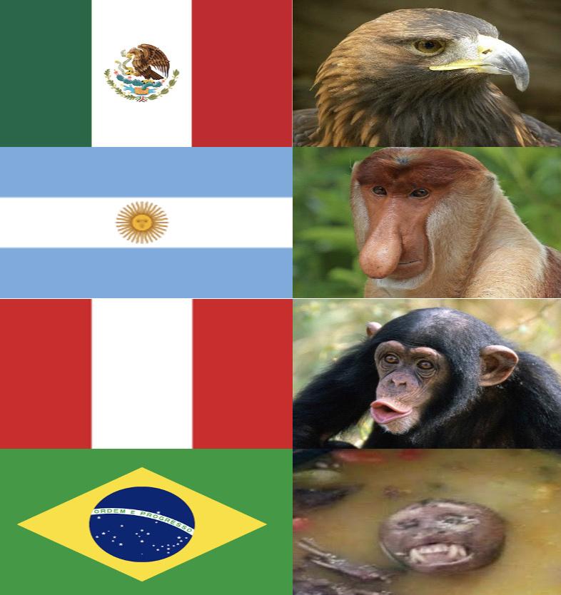 Animales Nacionales de Latinoamérica - meme