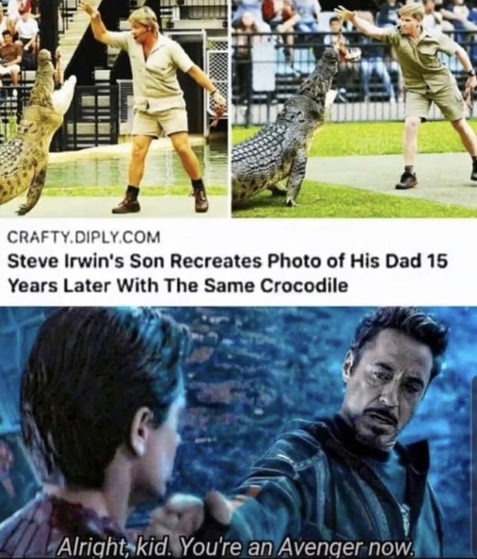 Like father like son - meme