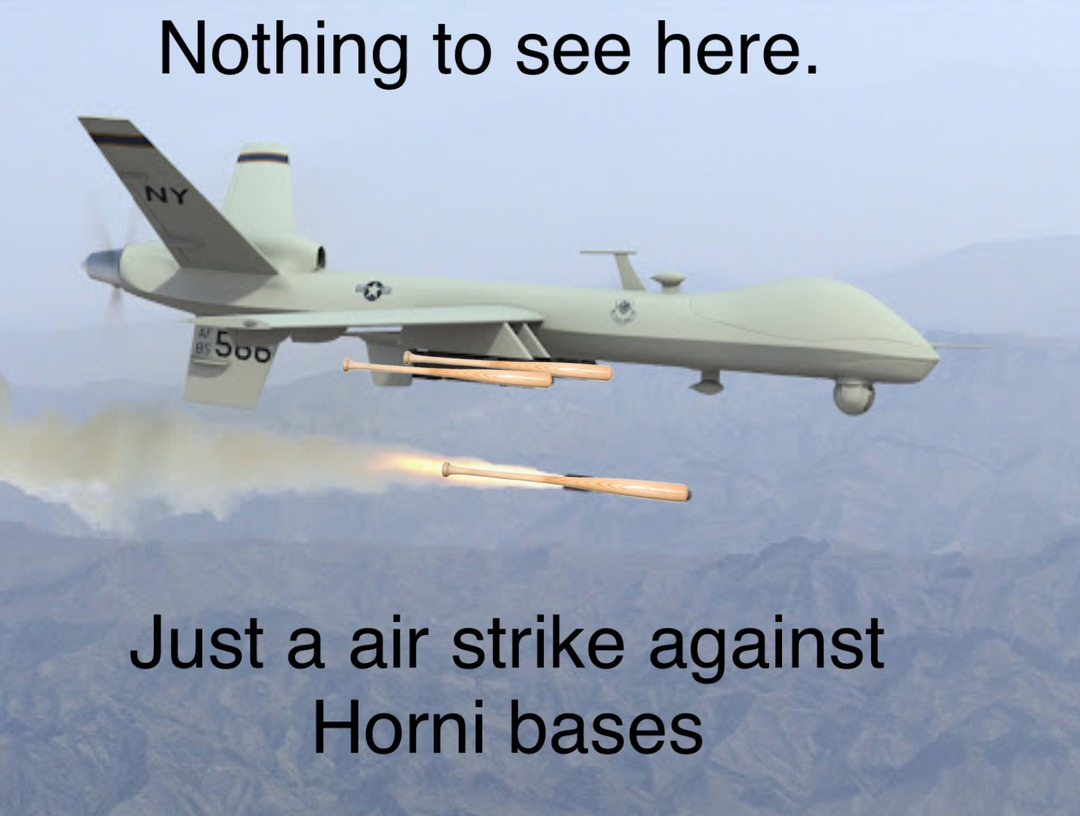 A new drone out for a… test run. - meme
