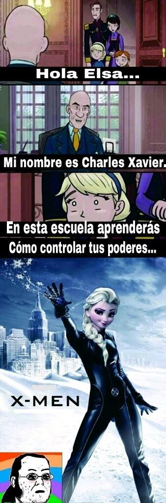 Elsa la mutante - meme