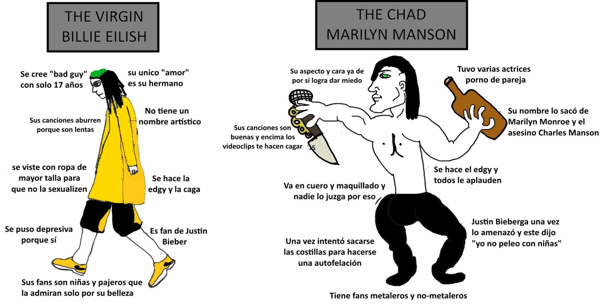 Billie Eilish vs Marilyn Manson - meme