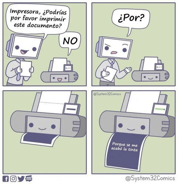impresora troll - meme