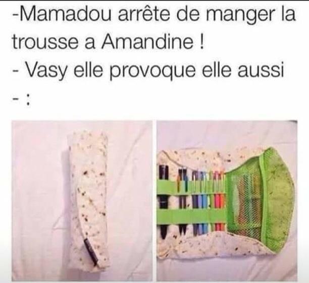 Mamadou avait mal aux dents - meme