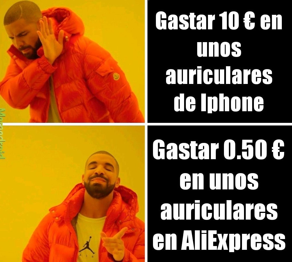 Auriculares xD - meme