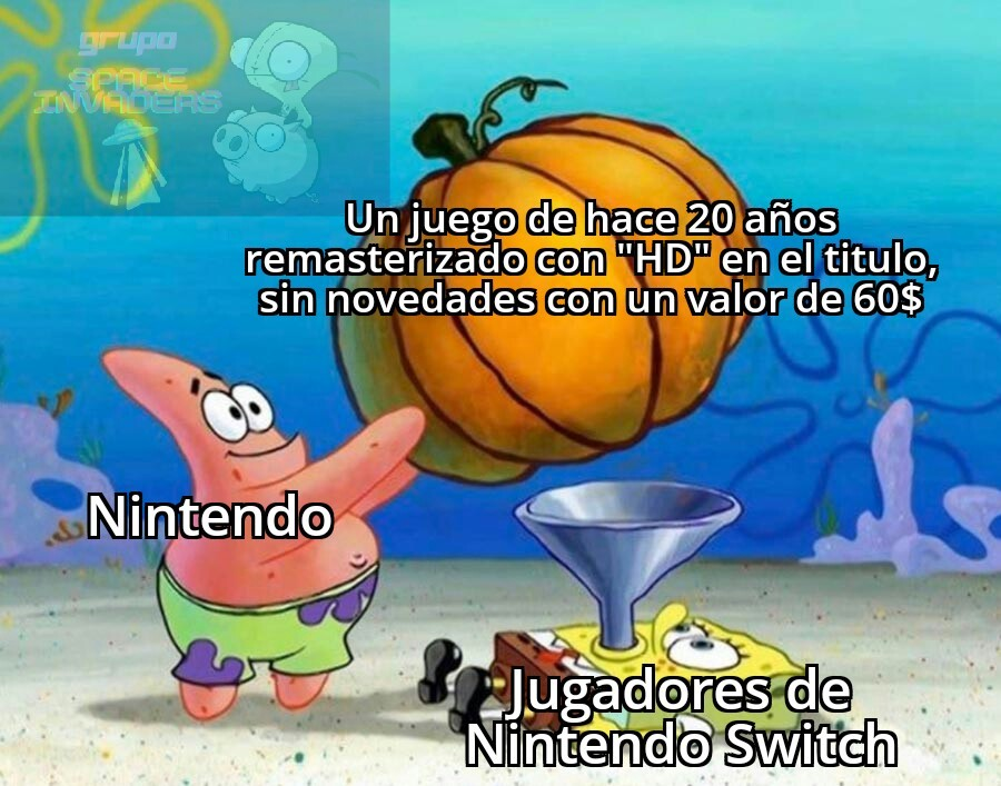 Primera vez que mencionó a Nintendo - meme