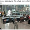 Le cosplay de la convention de cosplays