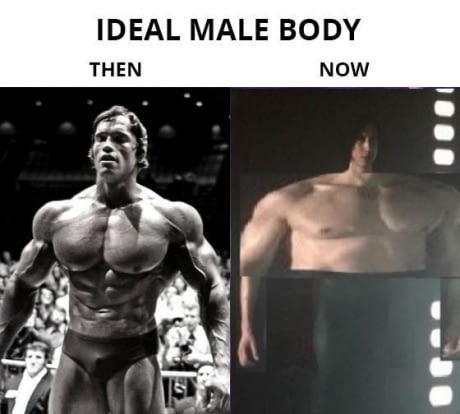 The ideal male body - meme