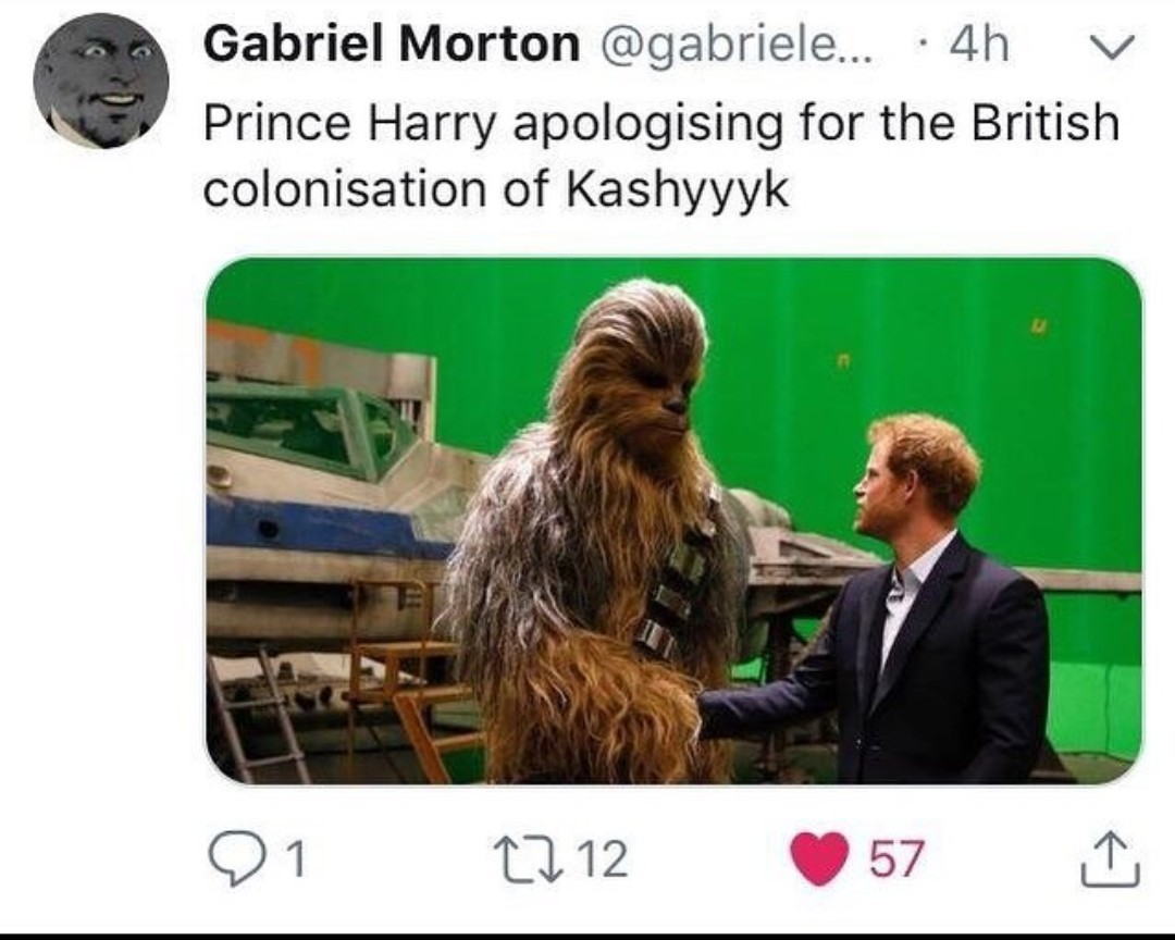 But what about the British attack on the Wookies - meme