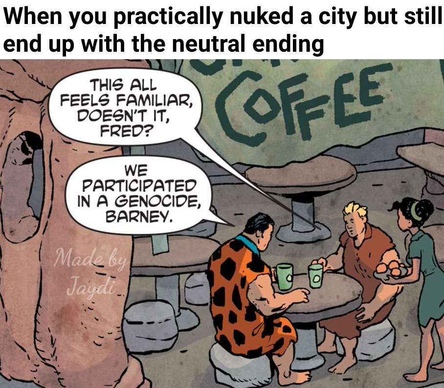Ye, this from the Flintstones comics - meme