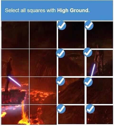 Mr.High Ground have the advantage - meme