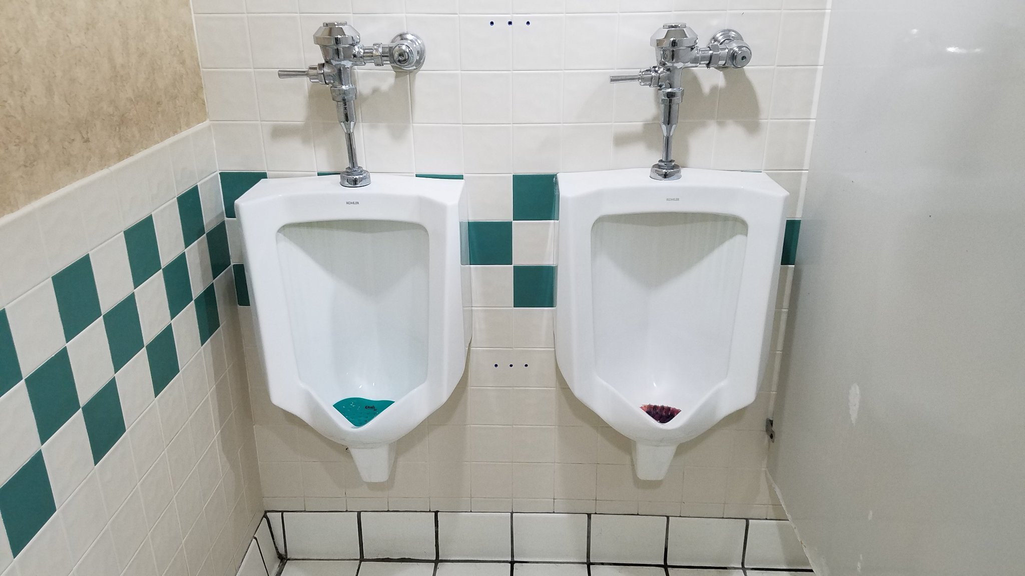His and her urinals - meme