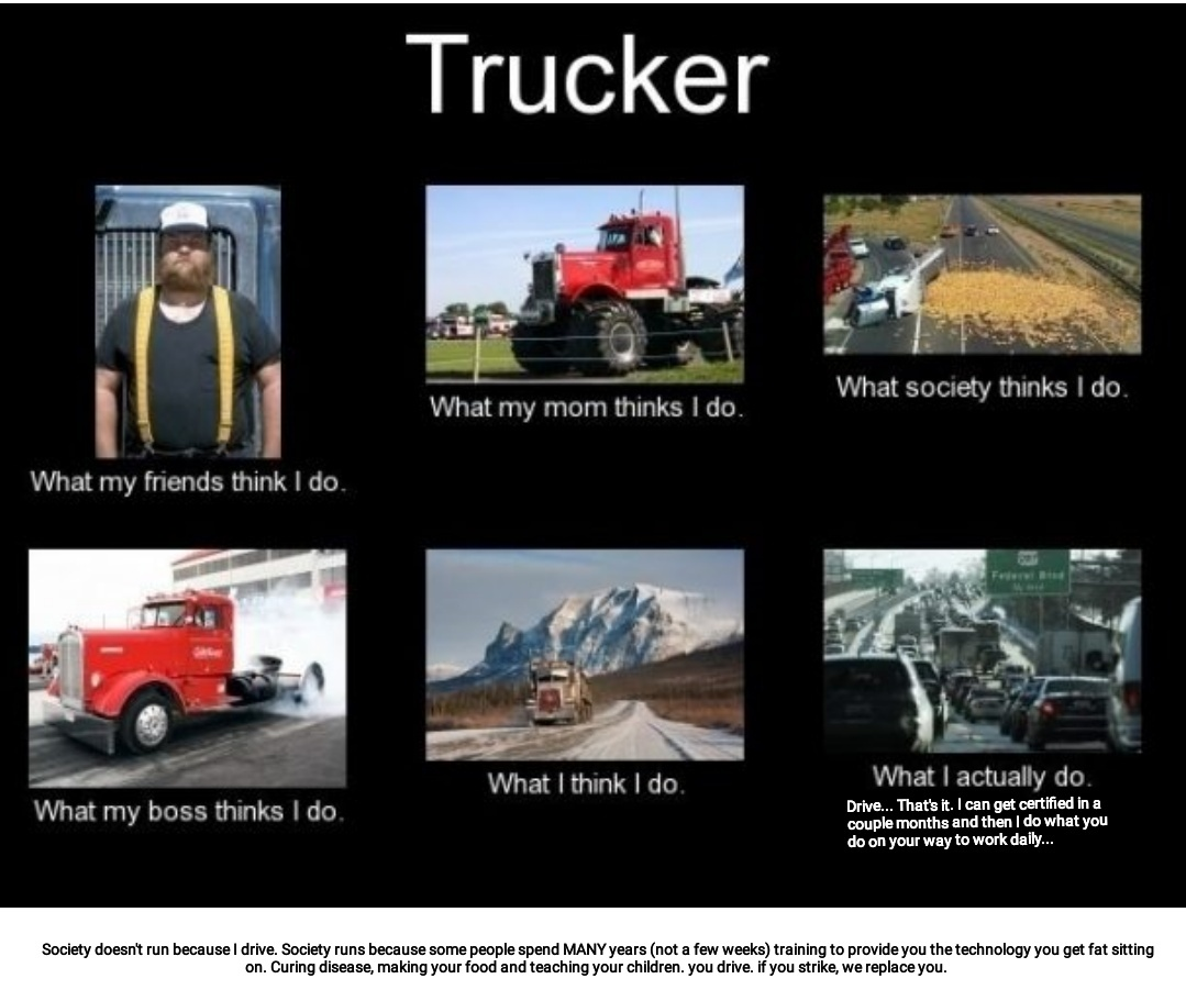Get over it truckers - meme