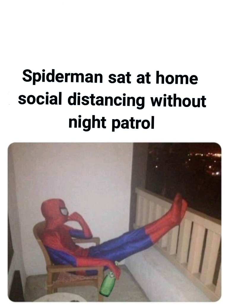 Even Spidey has to go with the rules - meme