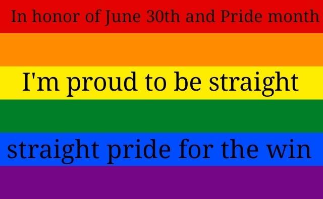 Straight pride - meme