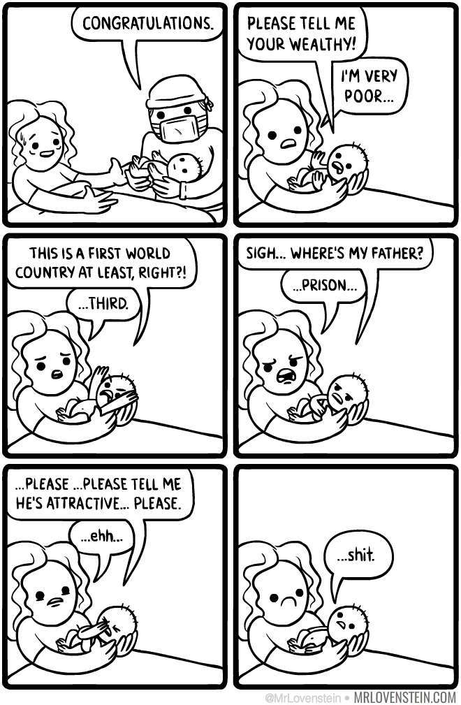 if babies could talk after their birth - meme