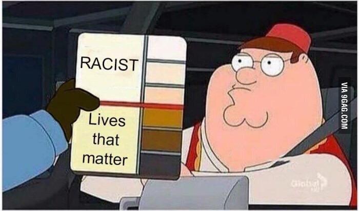 Como ver se a pessoa é racista - FONTE: 9GAG - meme