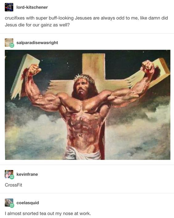 The Father, Son, and the Holy Gains - meme