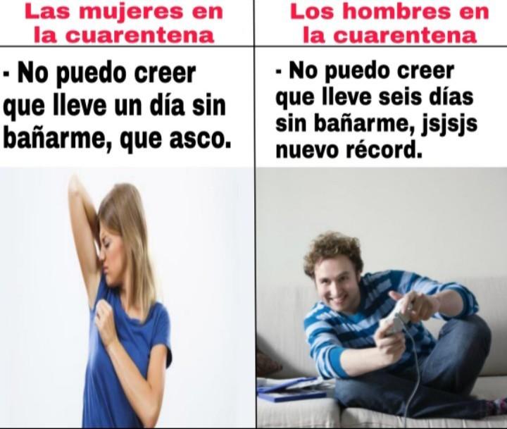 Mujeres vs hombres - meme