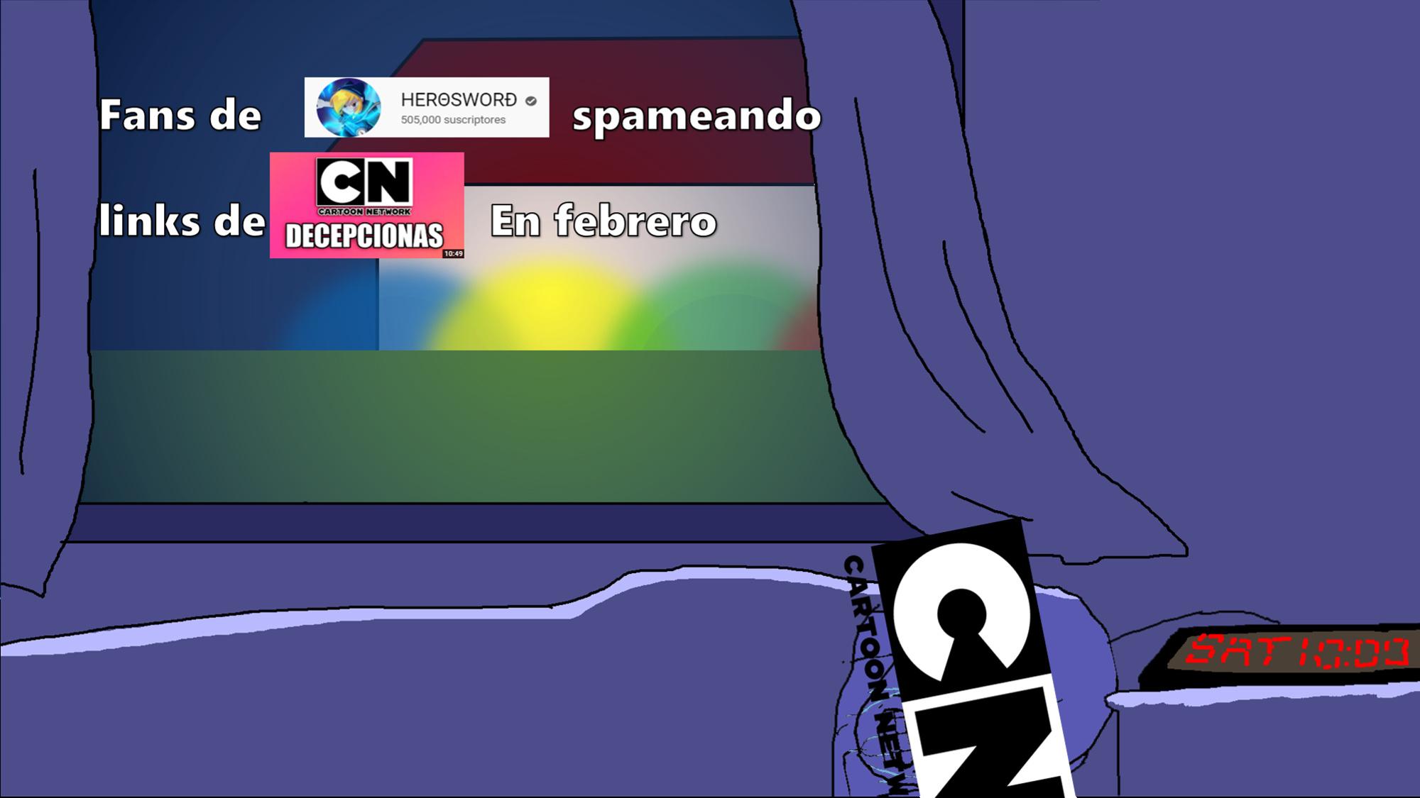 Pobre cartoon network - meme
