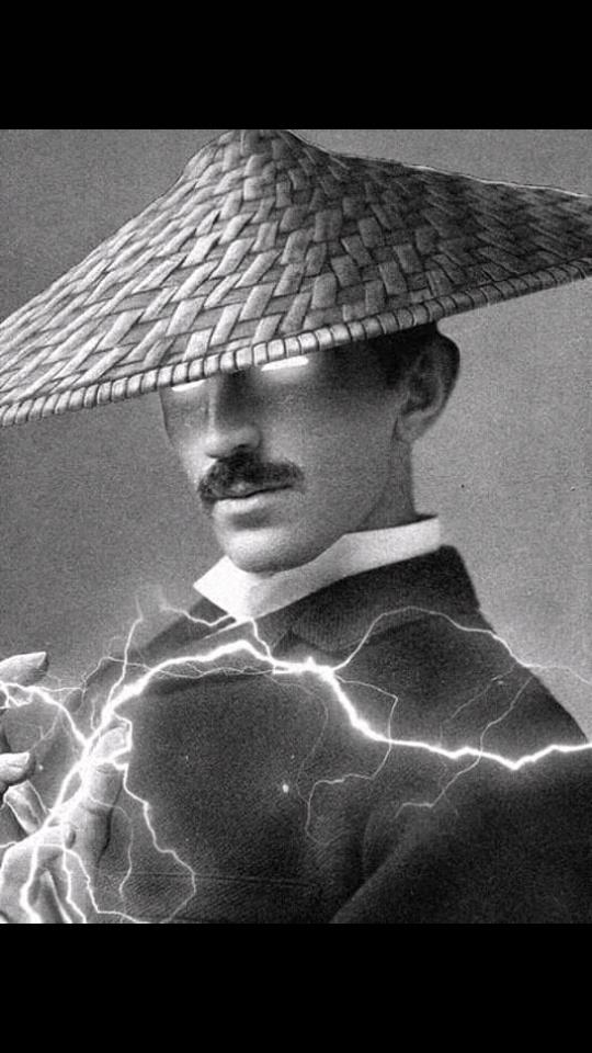 Nicolas Tesla as Raiden - meme