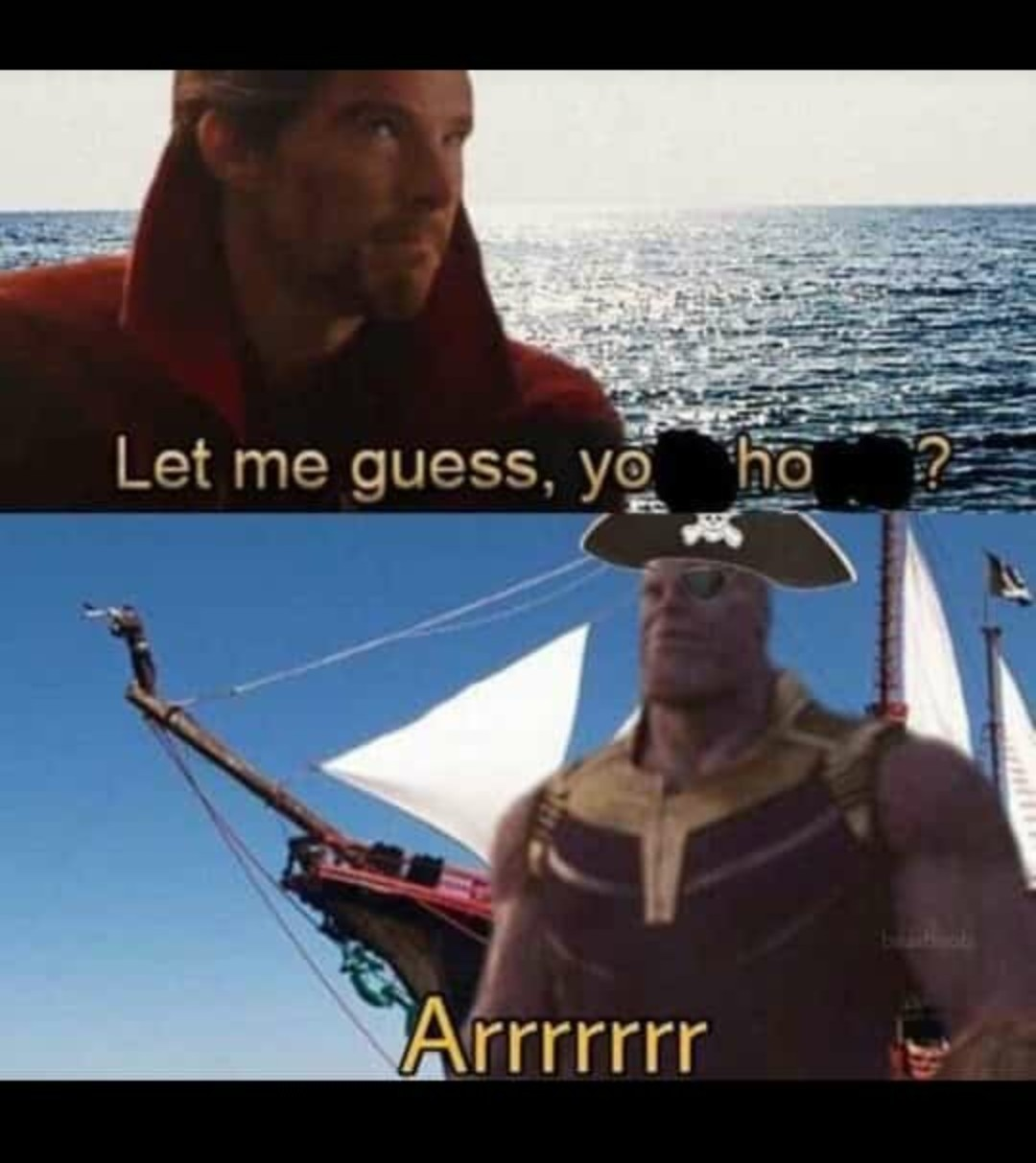 Thanos pirata - meme