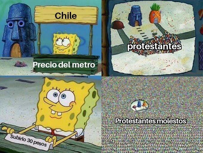 Pobre chile  - meme