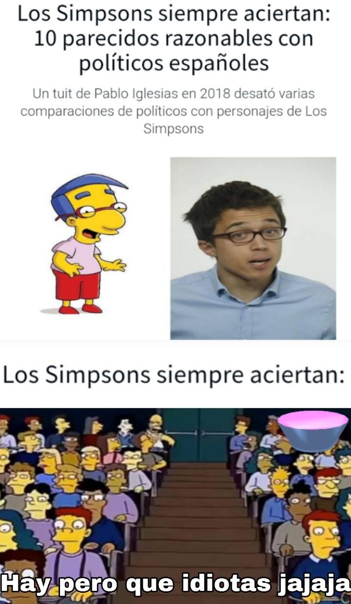 Enserio, quien sigue creyendo en los Simpson? - meme