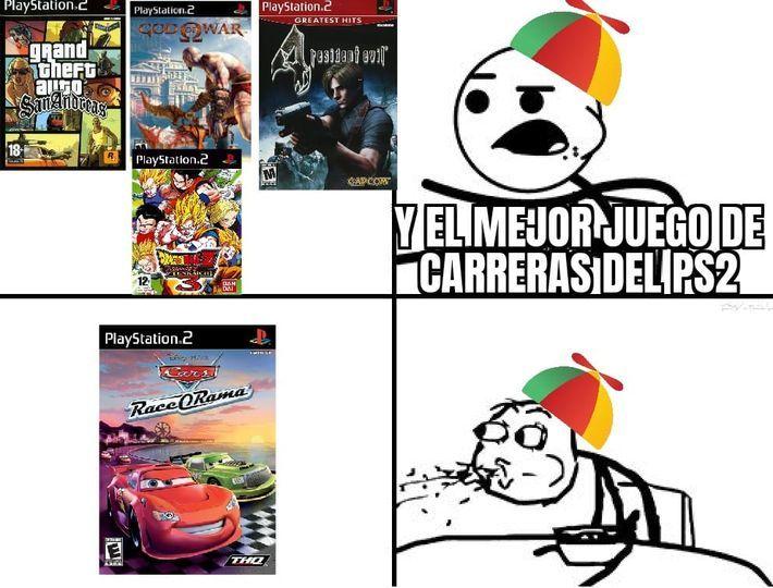 Cars race o rama es el mejores juegos del ps2 - meme