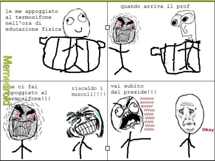 Il Prof (Con i muscoli) - meme