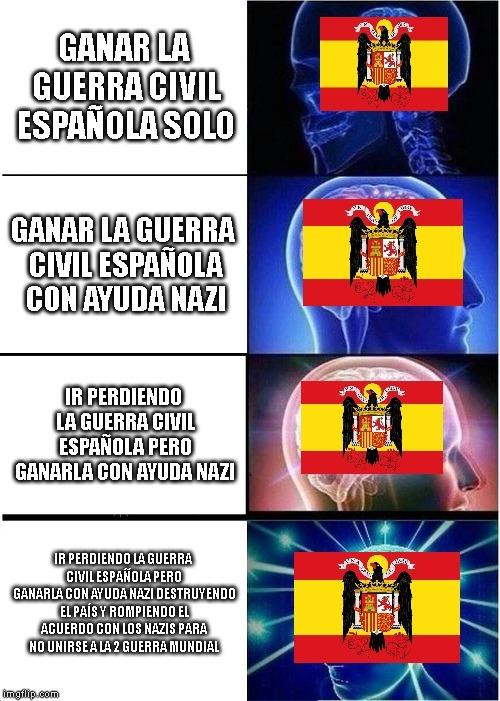 Resumen de la guerra civil española - meme