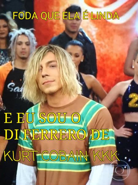 Di Ferrero de Kurt Cobain kkkk - meme