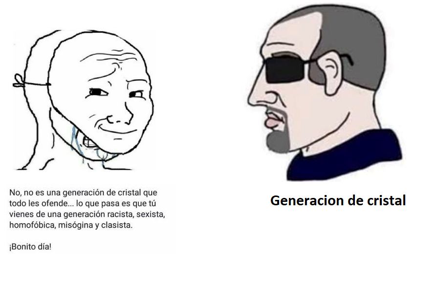 generacion de cristal - meme