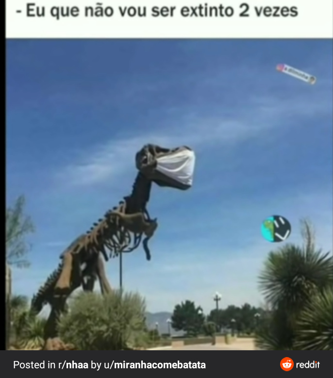 Dino é o Caralho - meme