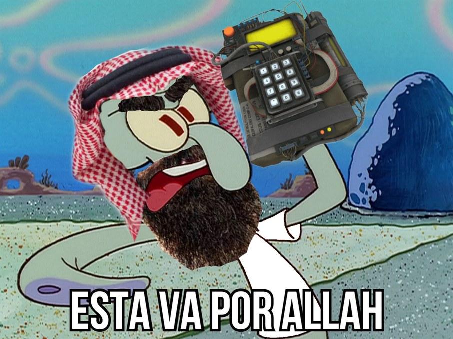 calamardo taliban - meme