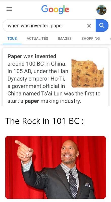 Paper beat rock - meme
