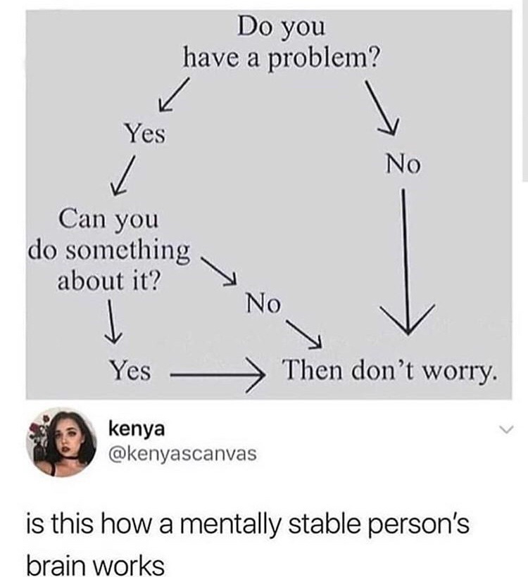 How do I become mentally stable - meme