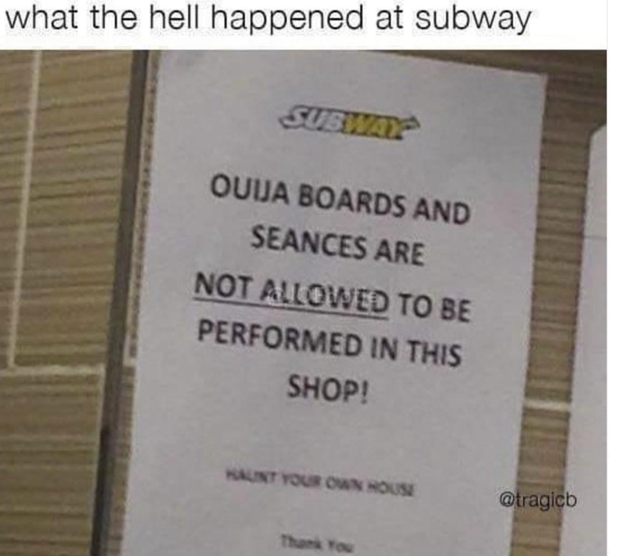Subway..... - meme