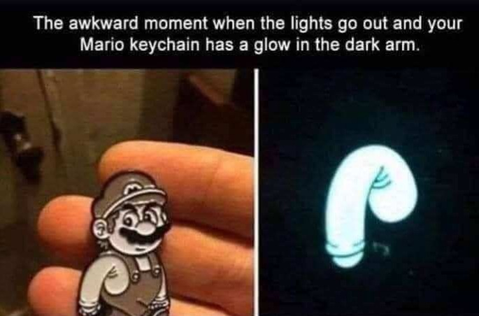 Mario has the hot salami - meme