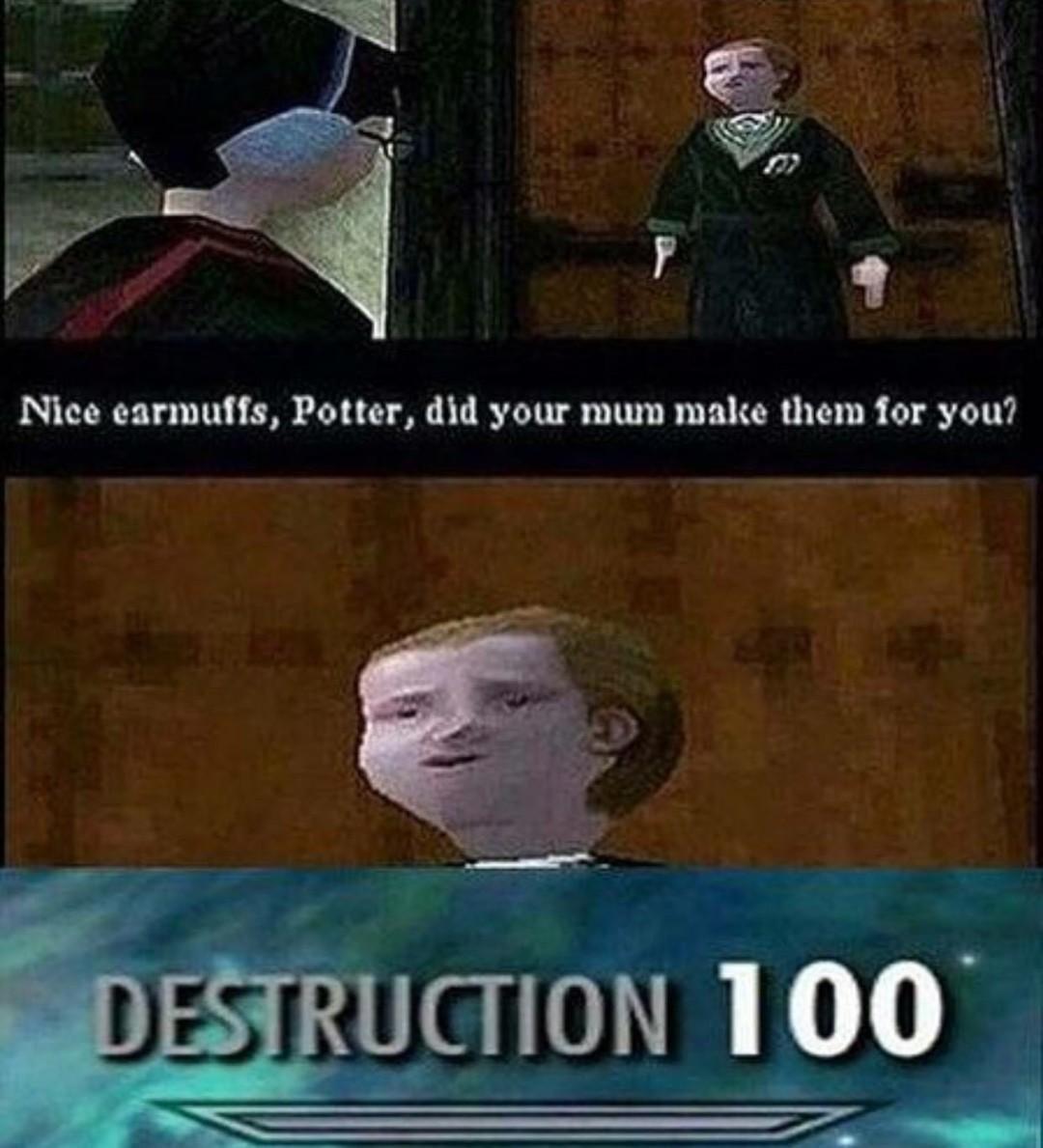 Savage Malfoy - meme