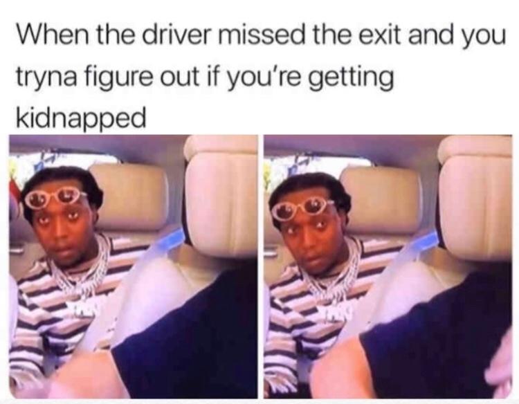stop the vehicle - meme