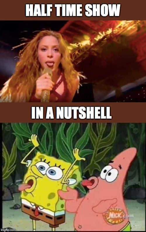 Superbowl halftime show- Shakira tongue - meme