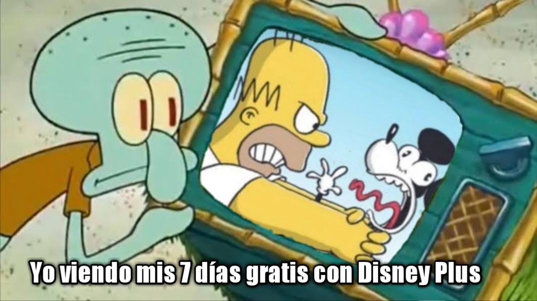 Calamardo Disney Plus - meme