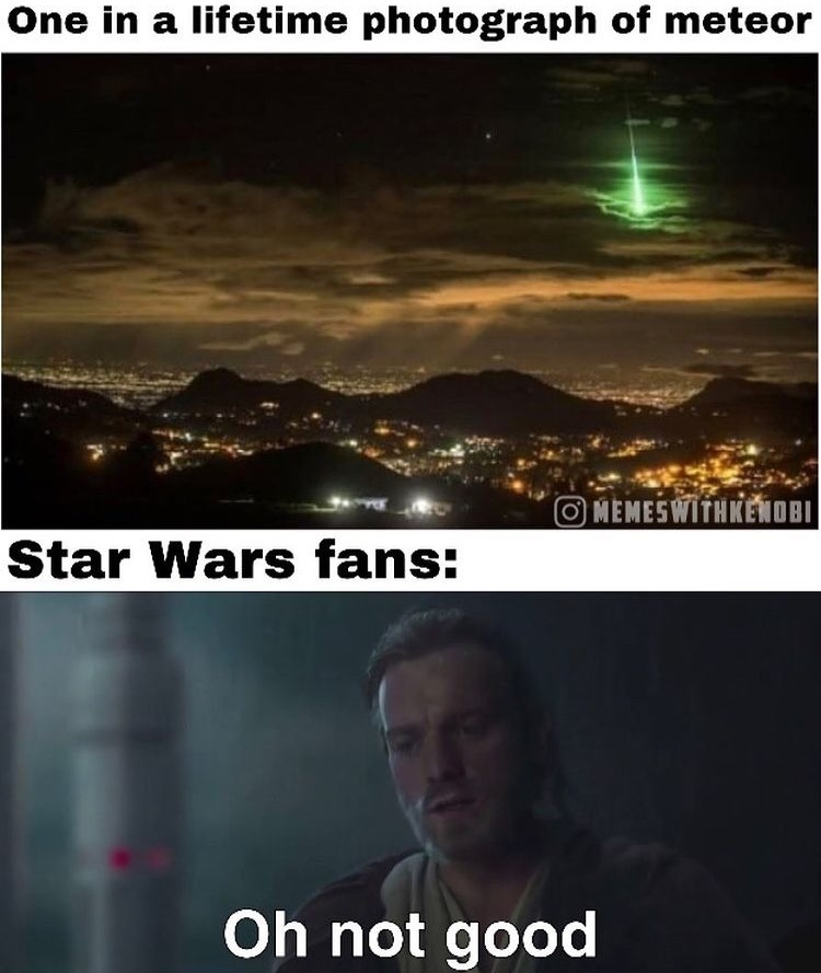 meteor or Death Star ray? - meme