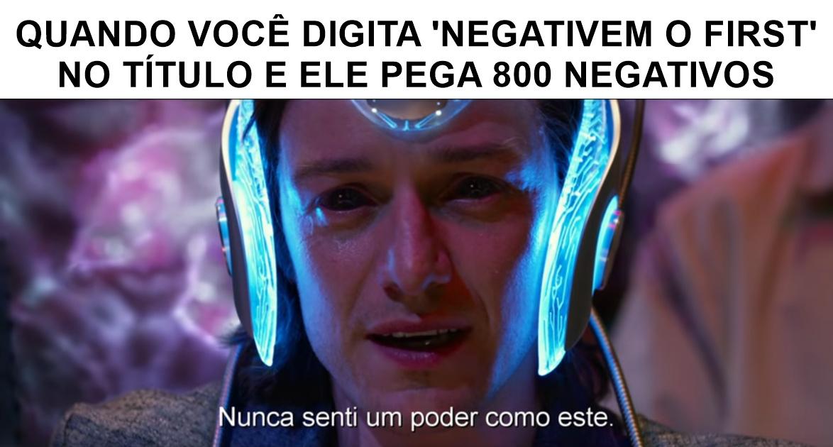 POSITIVEM O FIRST - meme