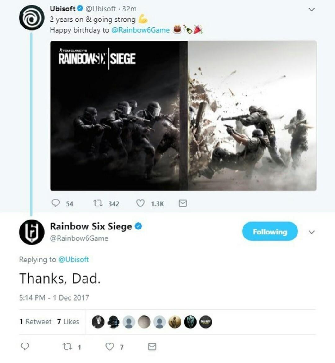 Happy late birthday rainbow six siege - meme
