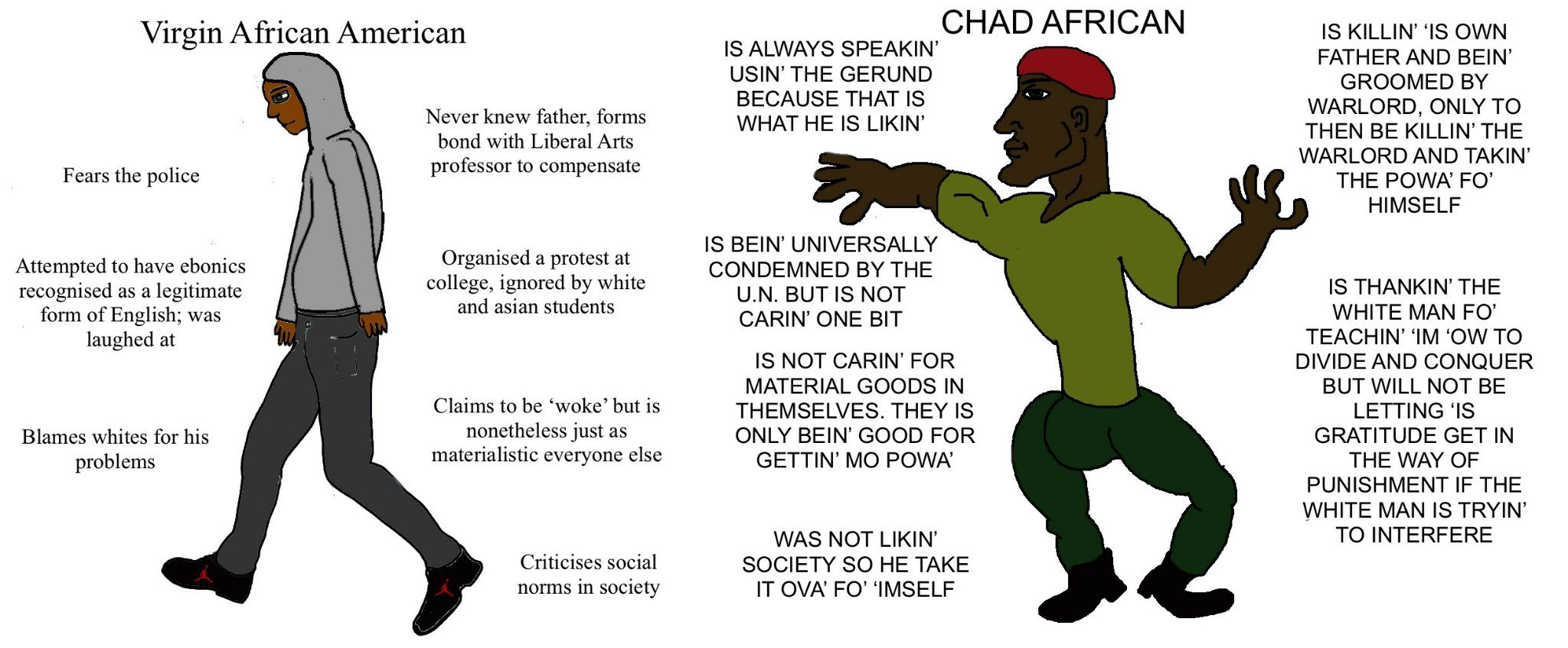Classic Virgin vs Chad - meme